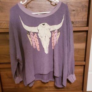 Wildfox Oversized Southwestern Sweater